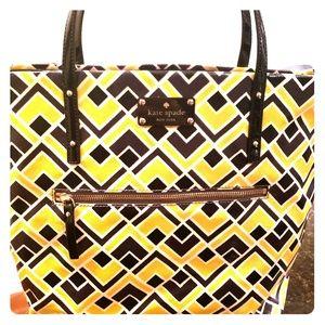 Kate Spade Bon Shopper Black & Yellow Tote
